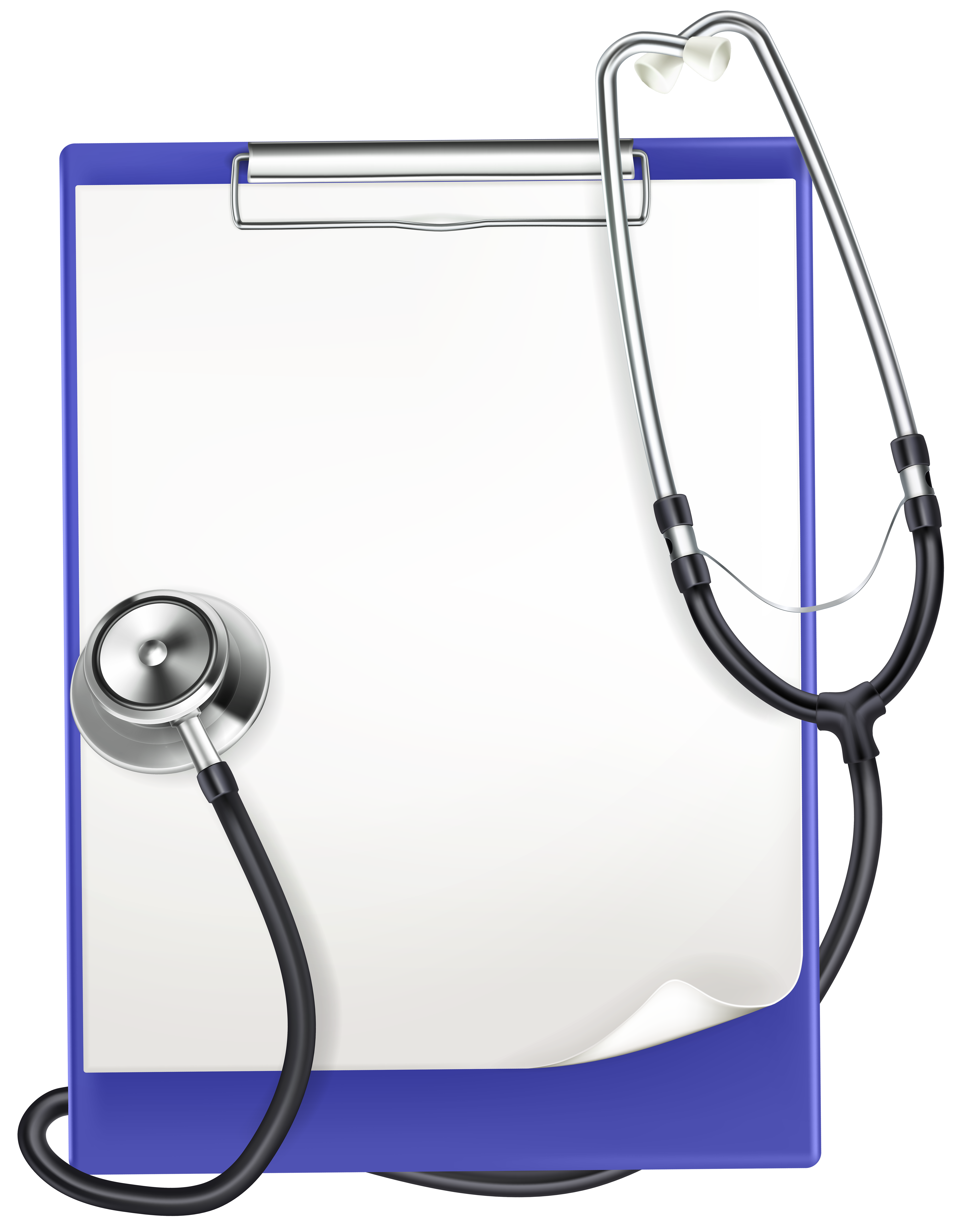 Transparent clipboard medical. With headphones png clip