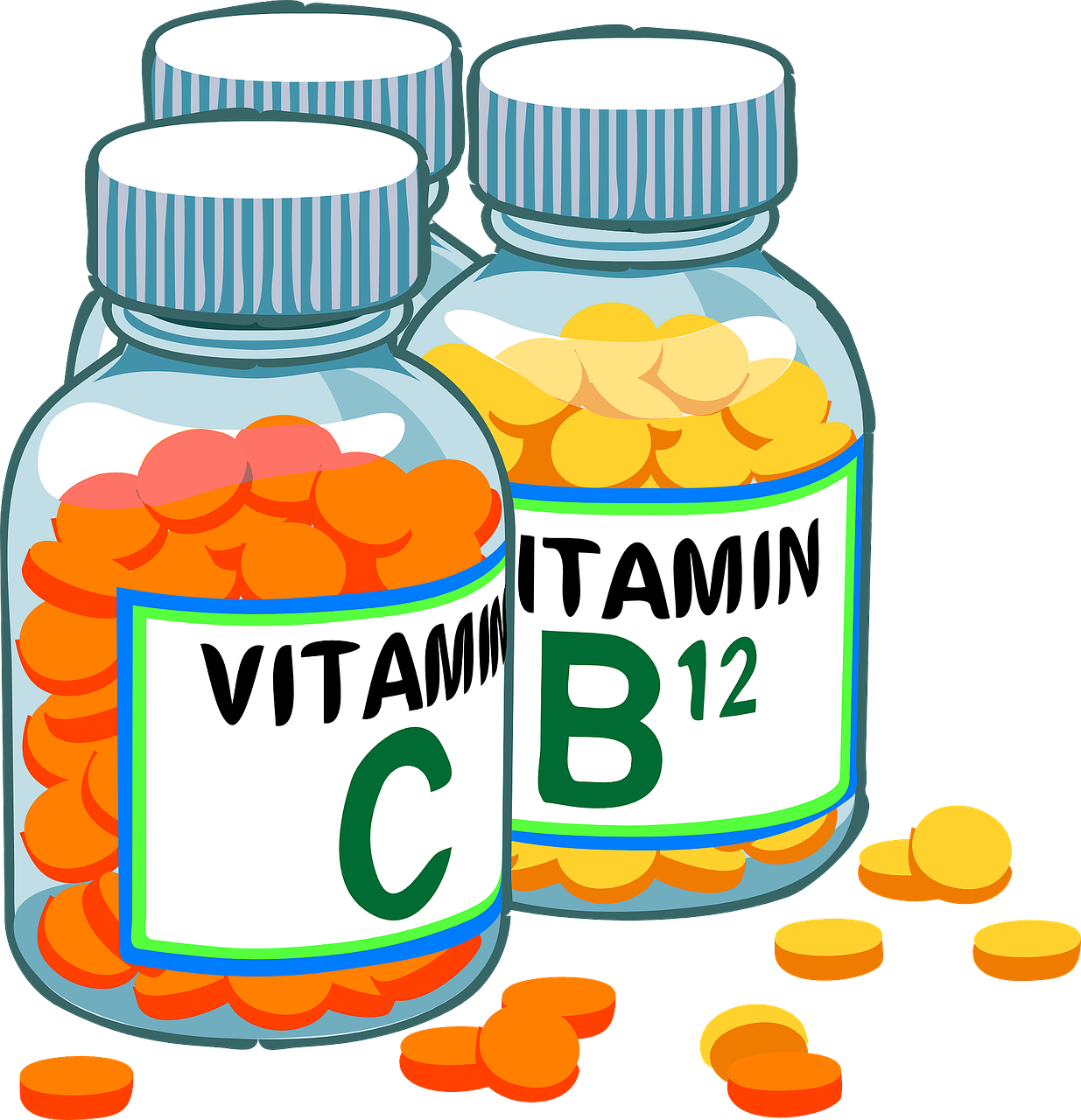 Medicine transparent cartoon. What vitamins have to
