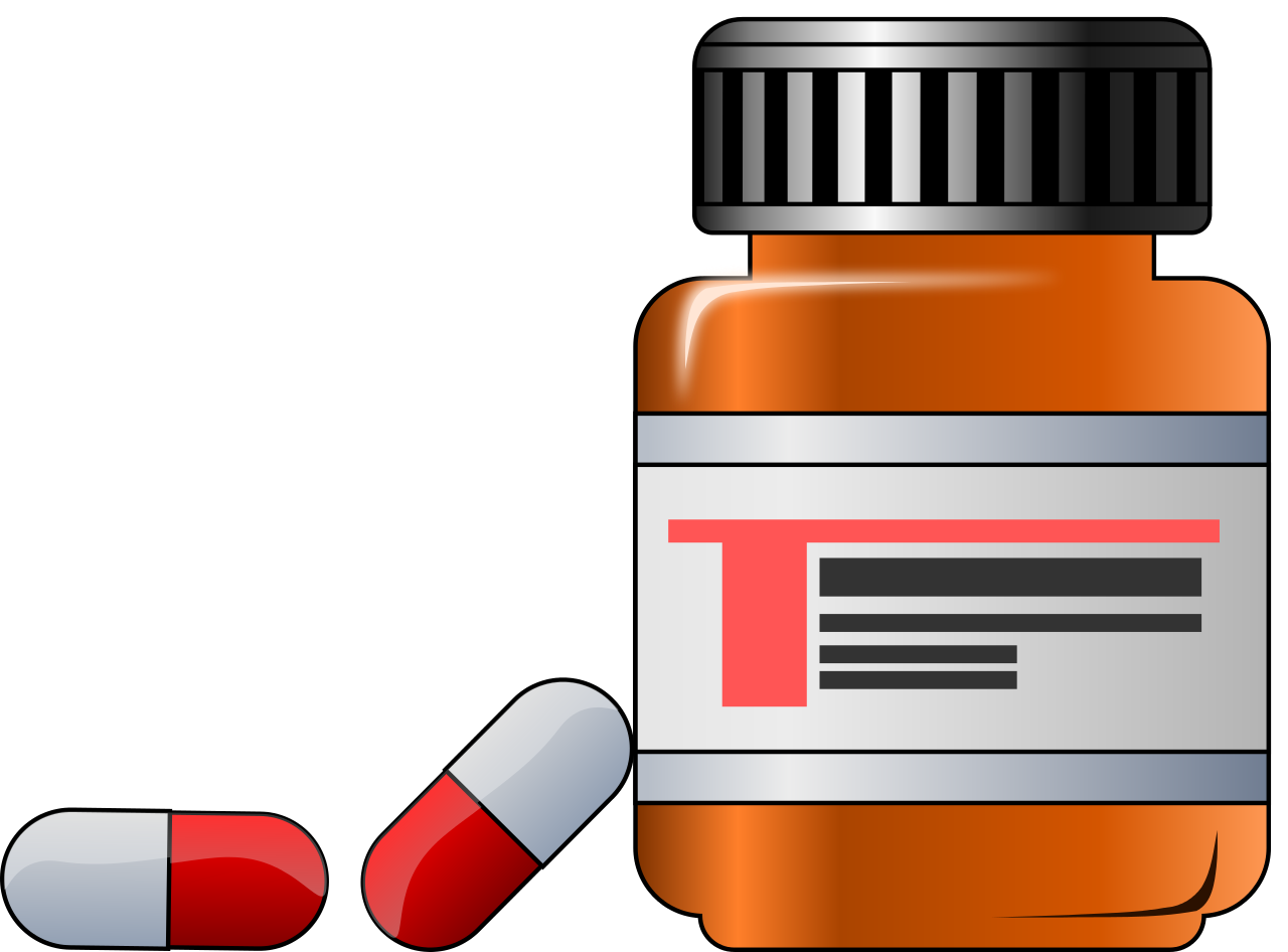 Open pill bottle png. File medicine drugs svg