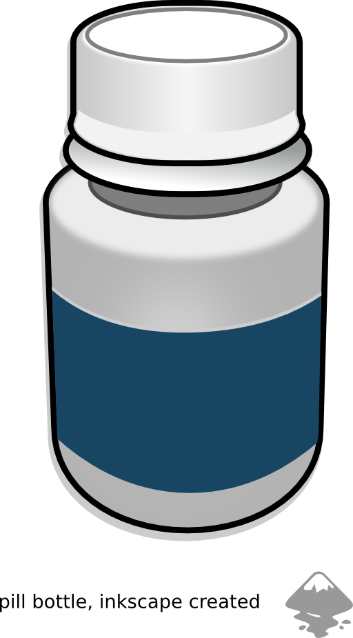 Drawing bottles pill bottle. Free clipart download clip