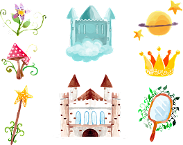 Heaven vector fairy tale background. Pictures of traditional chinese