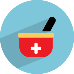 Medicine vector bowl. Icon medical health iconset