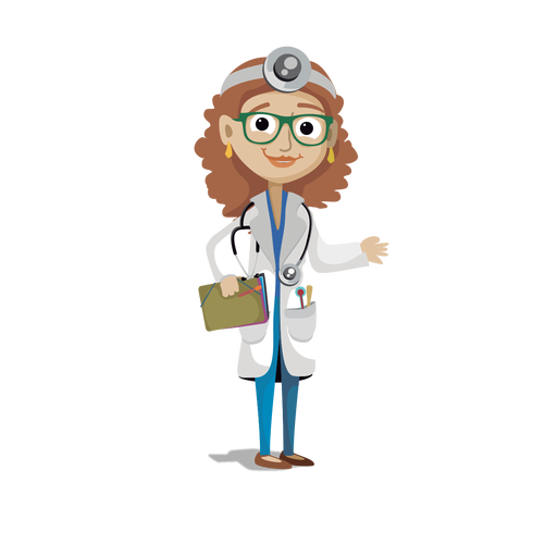 Vector offices medical office. Doctor profession cartoon svg