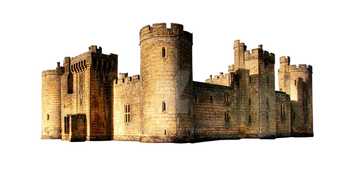 Medieval castle png. Stock p u by