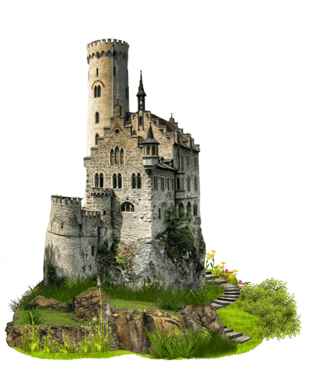 transparent castle landscape