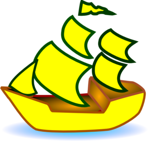Medieval clipart boat. Yellow