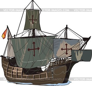 Medieval clipart boat. Ship color vector  jpg stock