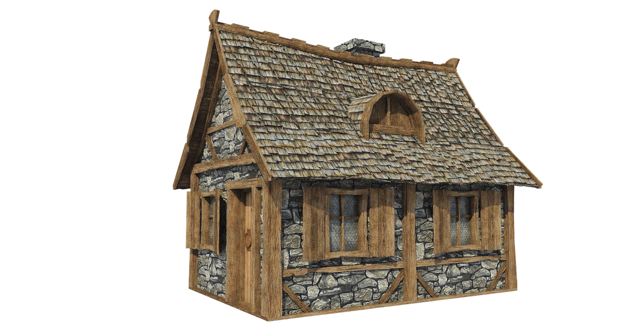 House free on dumielauxepices. Medieval clipart hut image black and white library