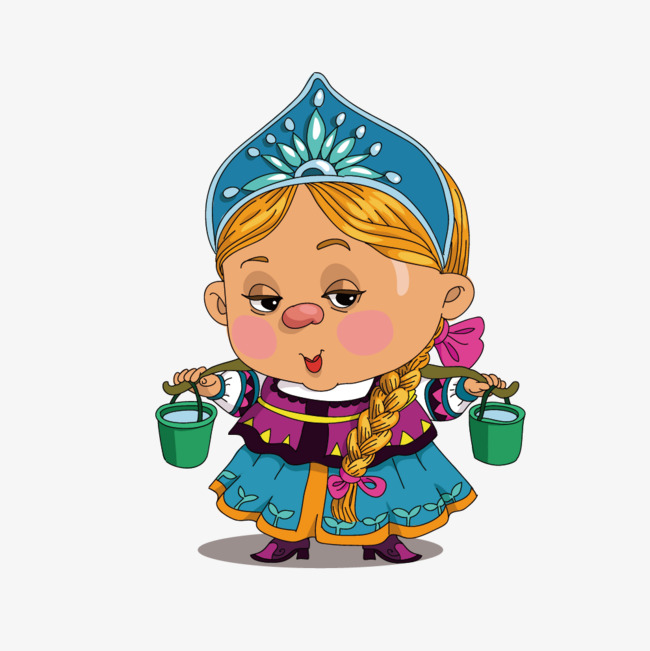 Medieval clipart maid. Vector foreign costume middle