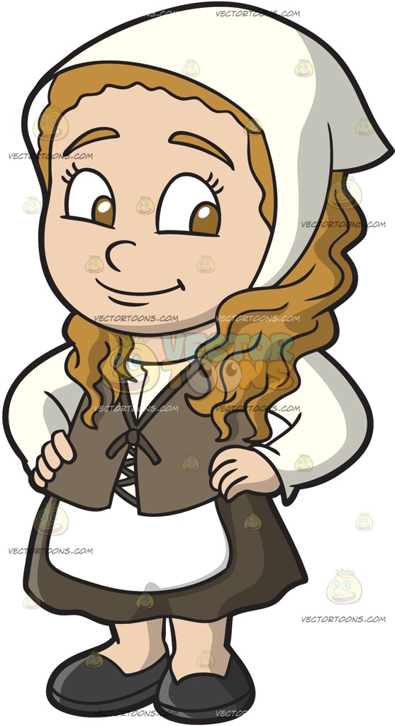 Medieval clipart maid. Kids collection cartoon vector graphic free