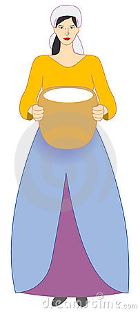 Peasant girl . Medieval clipart maid png freeuse download