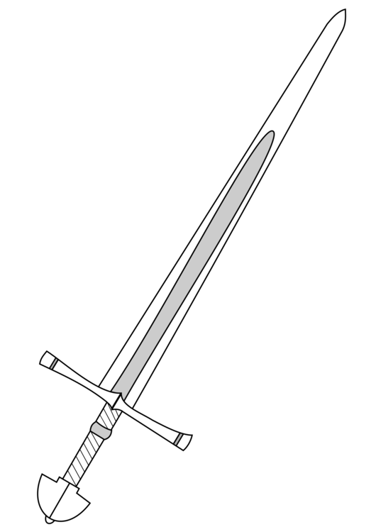 Medieval clipart sword. Middle ages knightly weapon