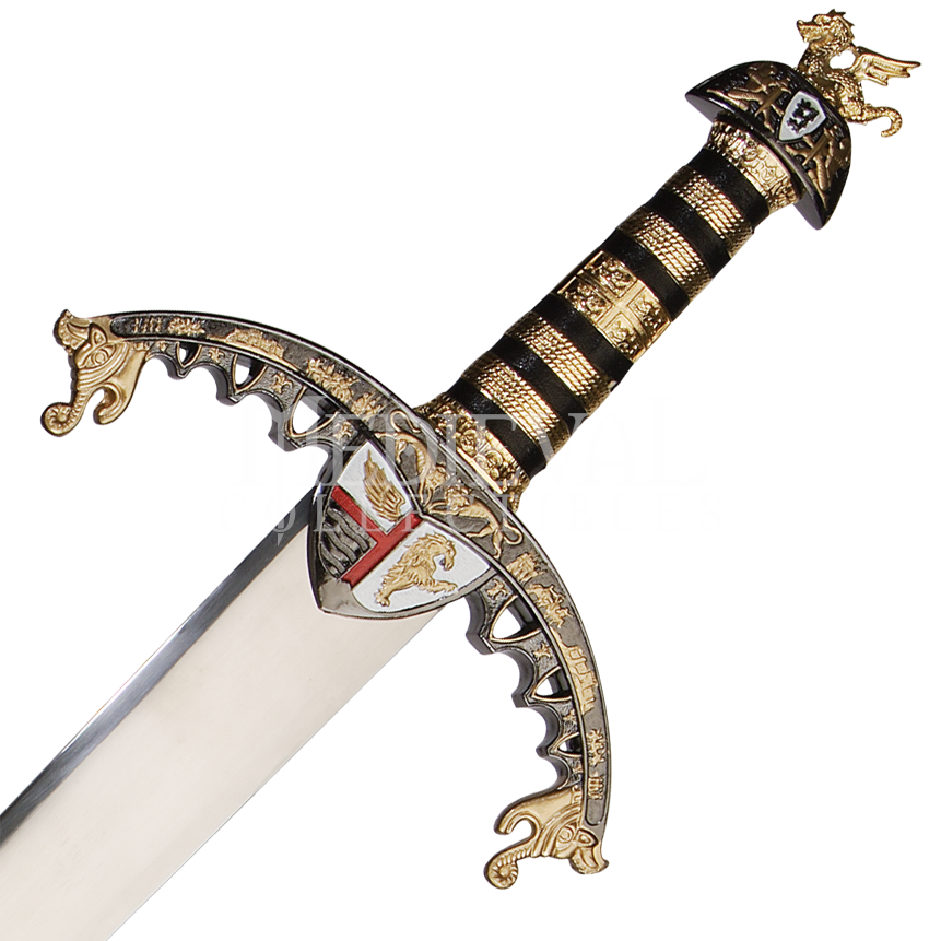 Gold hilt richard the. Medieval clipart sword image royalty free