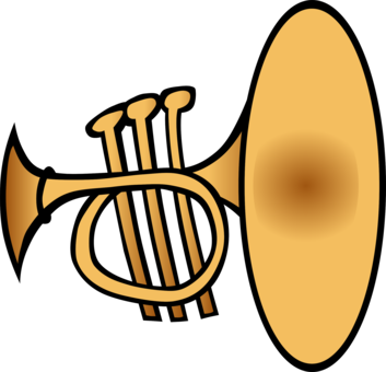 Medieval clipart trumpet. Fanfare the herald horn