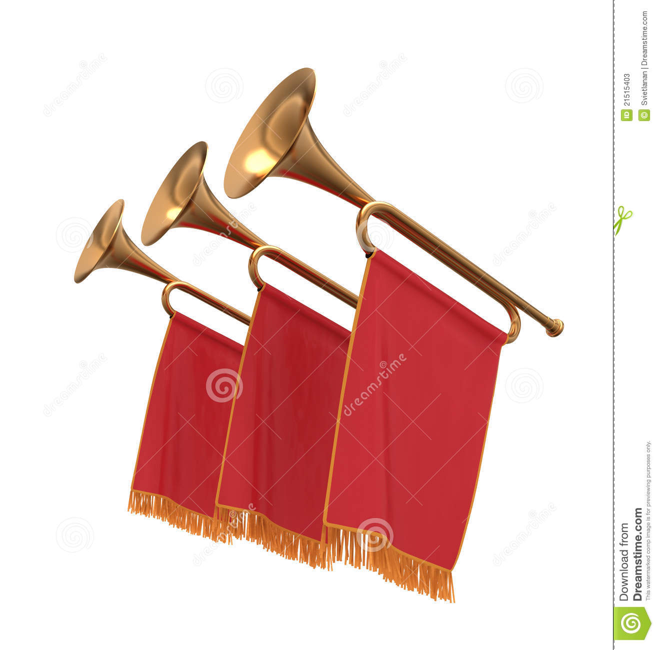Trumpets stock illustrations three. Medieval clipart trumpet free library