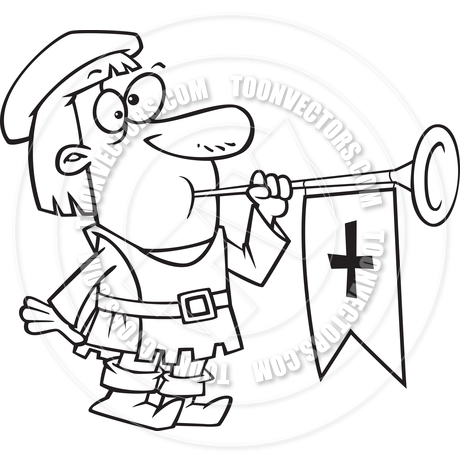 Cartoon drawing at getdrawings. Medieval clipart trumpet clipart free download