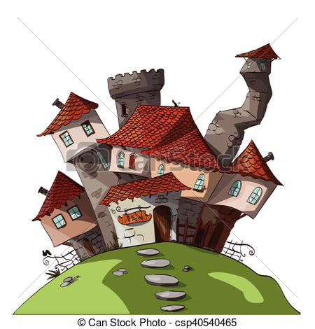 Small vector fantasy village. Medieval clipart villager png library library