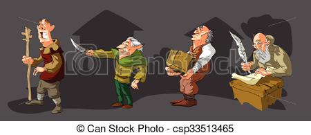 Medieval clipart villager. Villagers cartoon or fantasy clip library stock