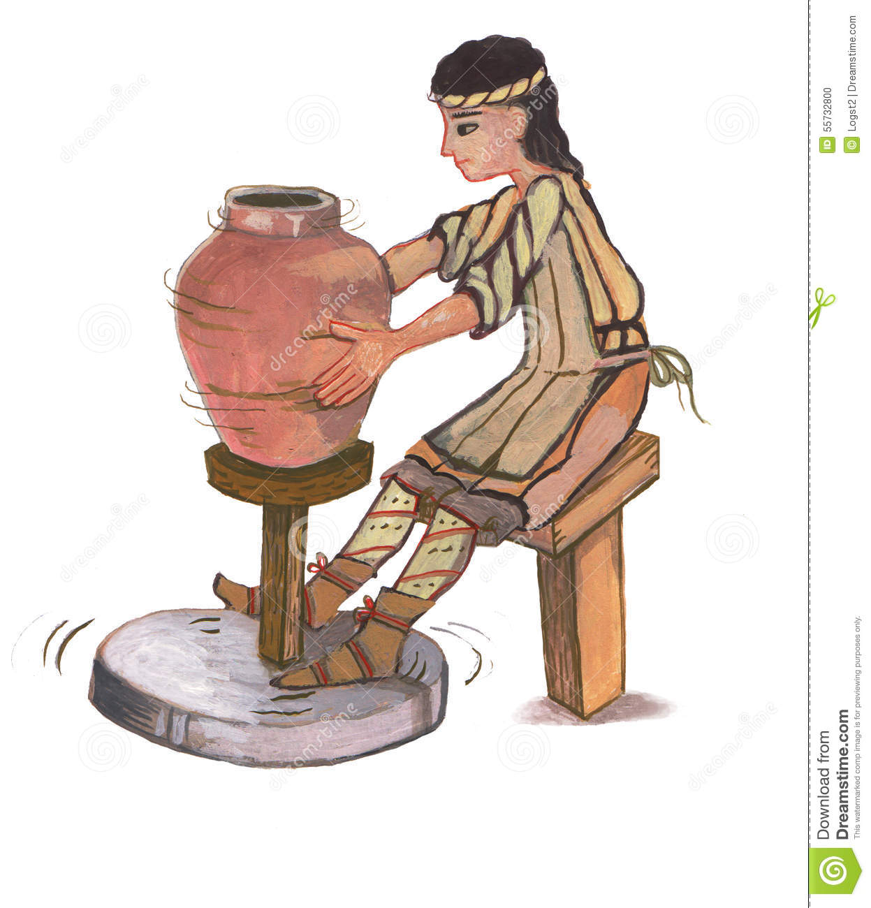 Medieval clipart villager. Villagers stock illustrations potter clipart freeuse