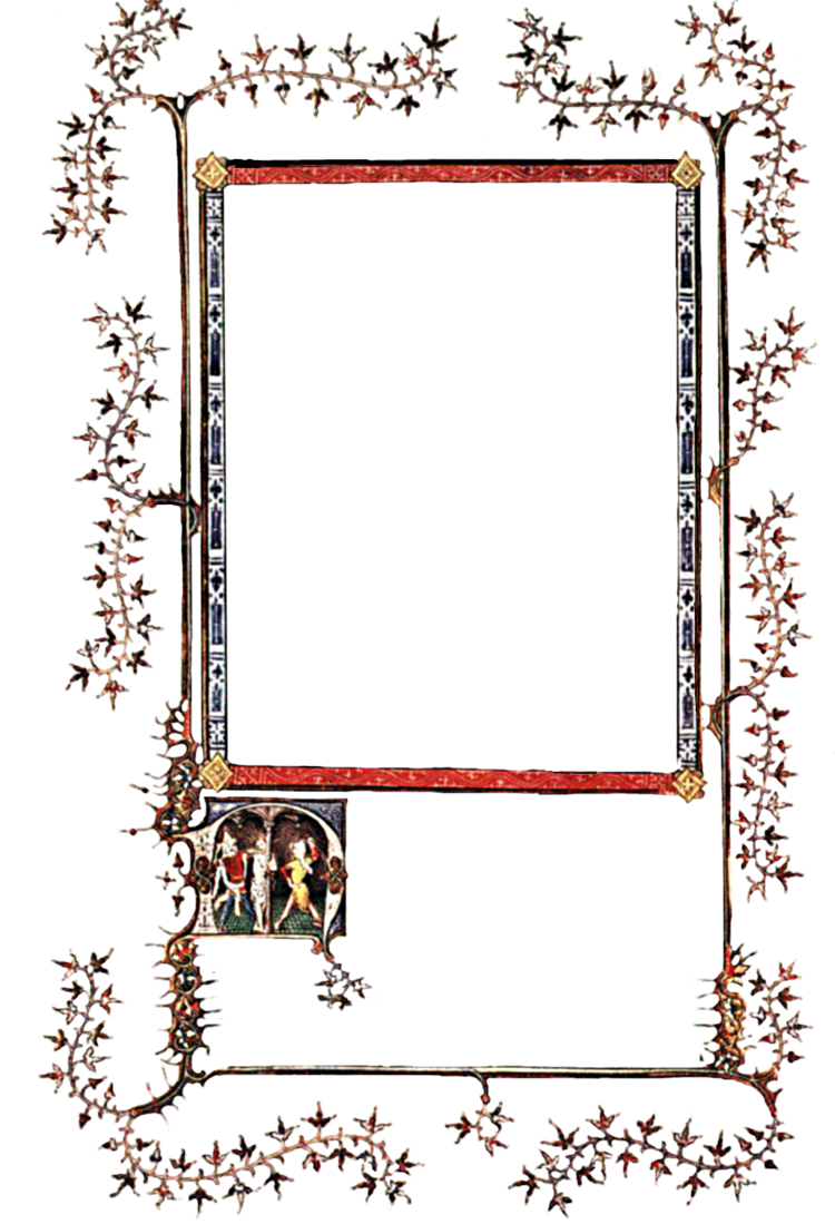 Medieval frame png. Illumination by montvalentstock on