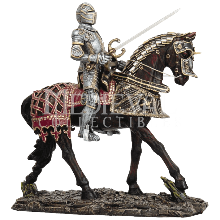 Medieval knight png. On horseback statue cc
