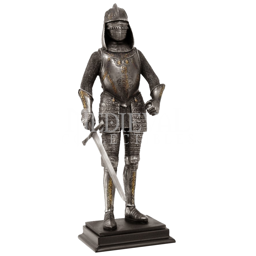 Medieval knight png. Standing statue cc from