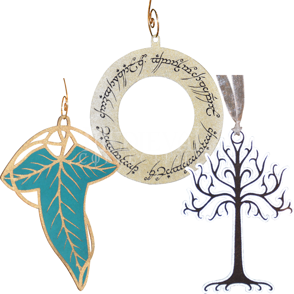 Medieval ornaments png. Lotr christmas ornament collection