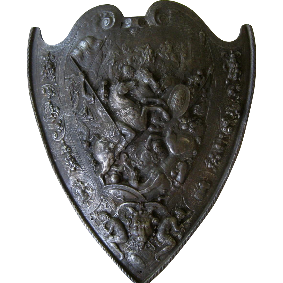 Medieval shield png. Cast iron style c