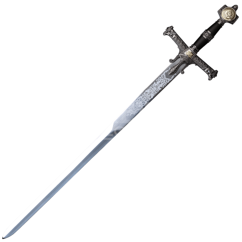 Medieval swords png. Black sword of king