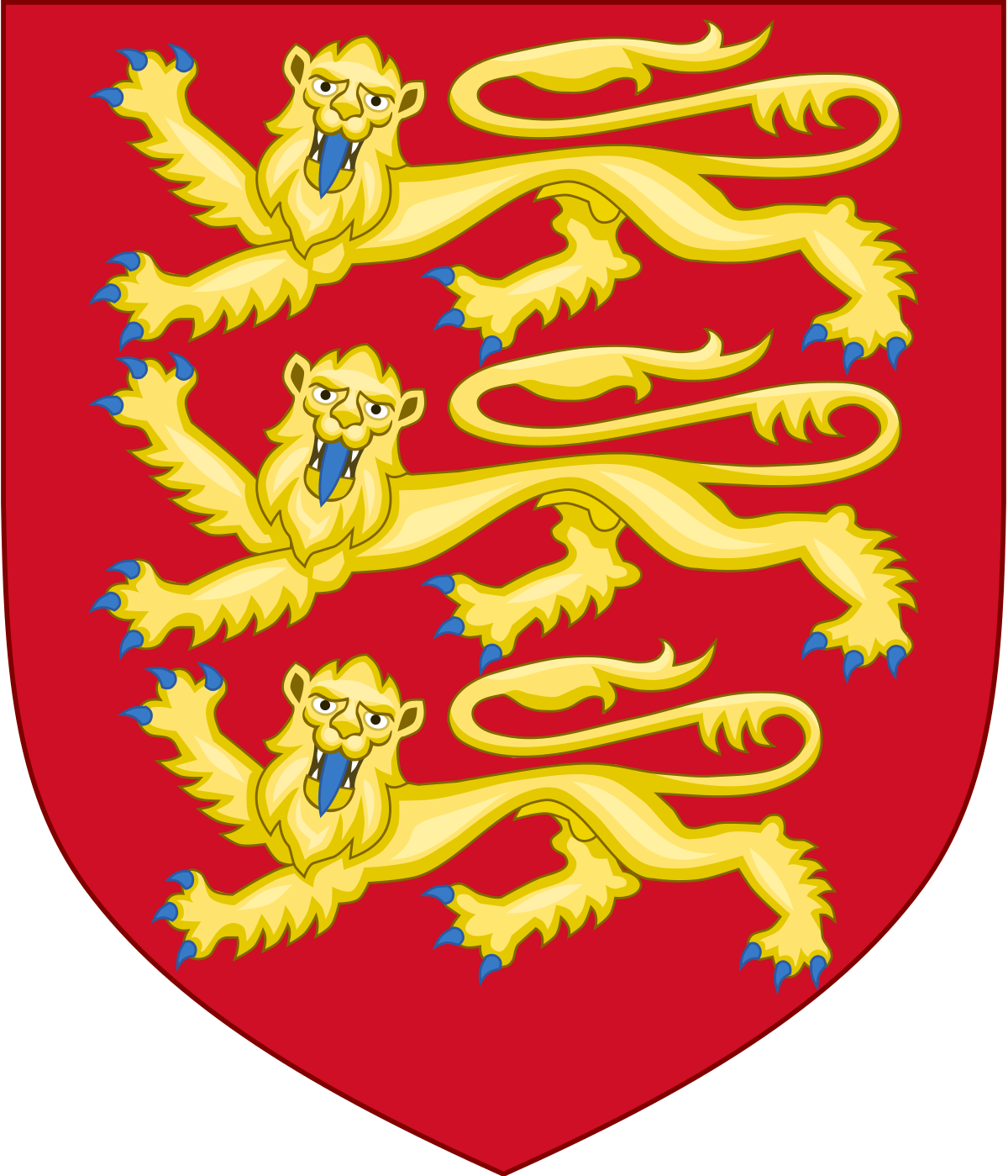 Banner clip crest. Royal arms of england