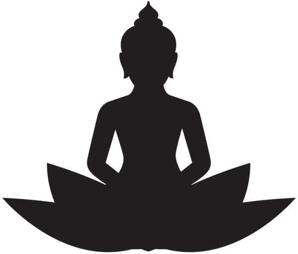 Silhouette meditation at getdrawings. Buddha clipart clear clip transparent stock