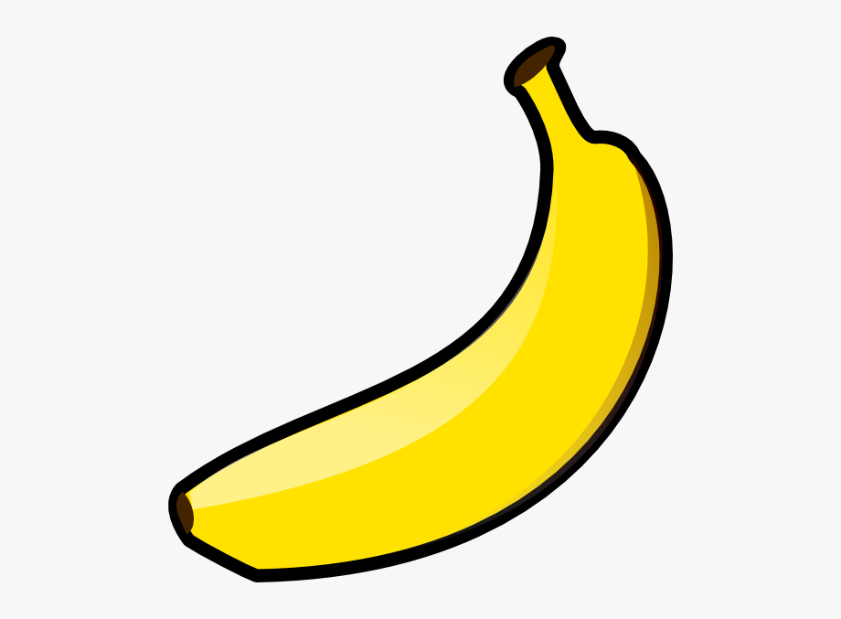 Yellow banana. Download for free png