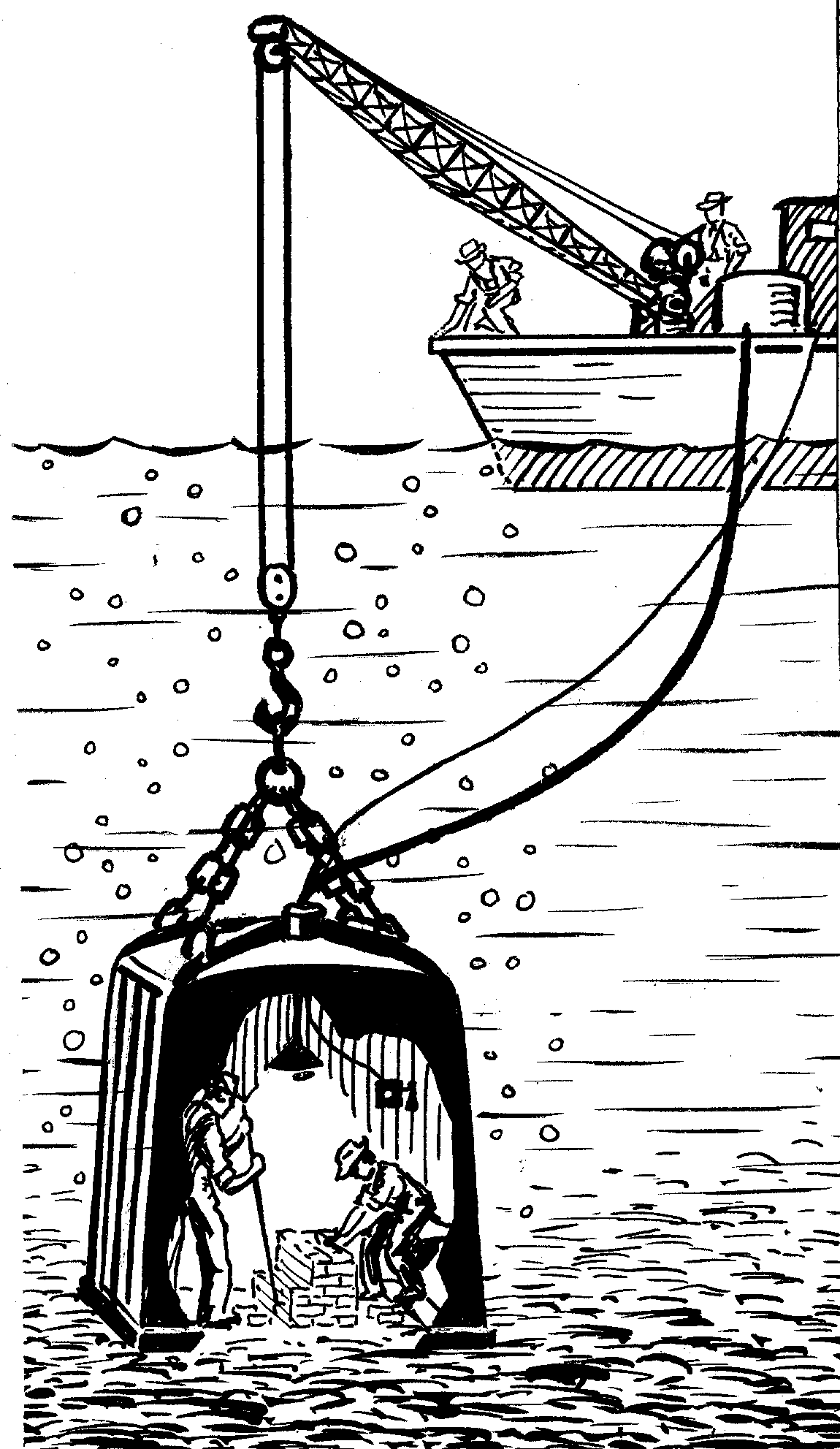 Medium diving bell. Index of collaboration images