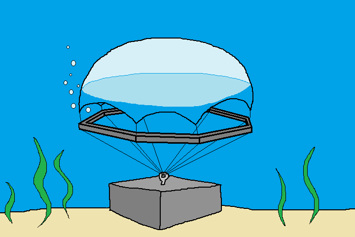 Medium diving bell. Build your own underwater