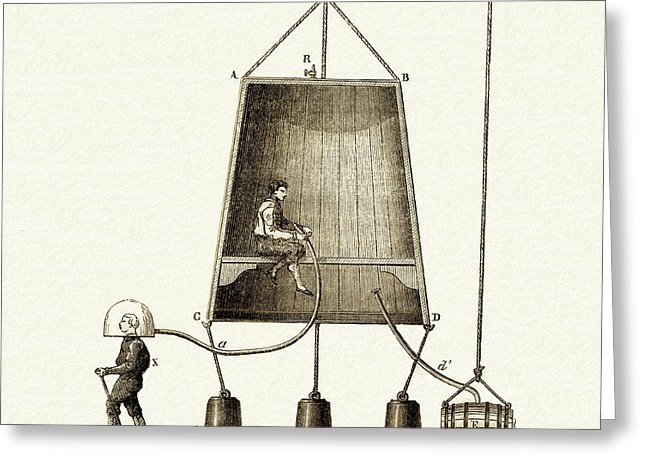Medium diving bell. Greeting cards fine art