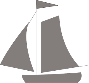 Medium sailboat. Sailing boat png svg