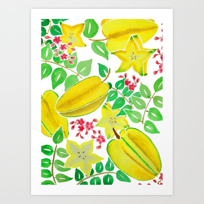Large starfruit. Season art print by