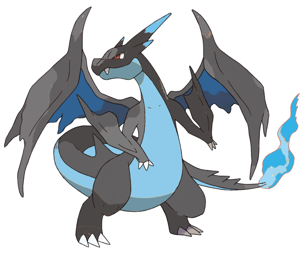 Mega charizard png. Y color swap with