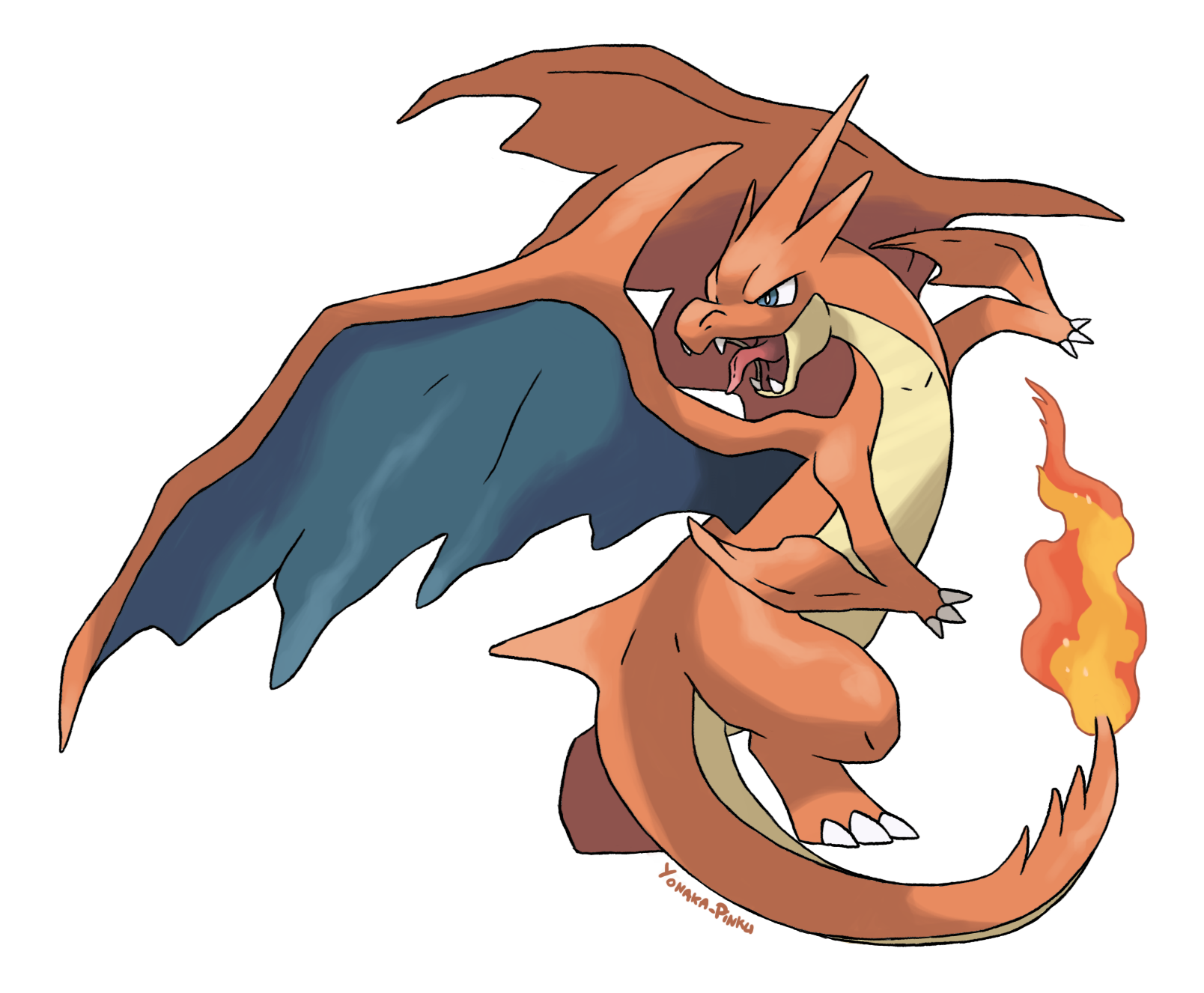 charizard vector fire