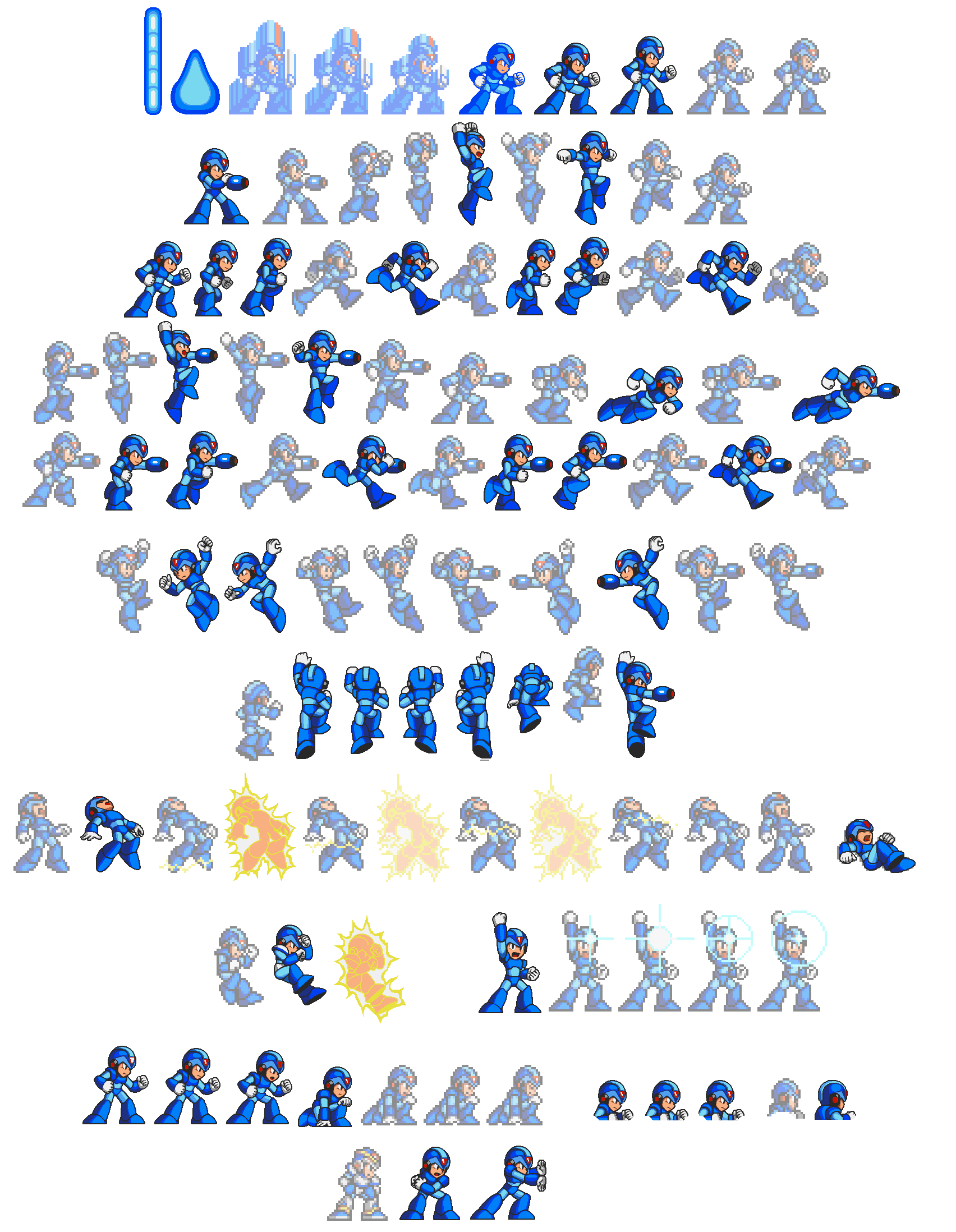 Mega man sprite png. Megaman x movement list