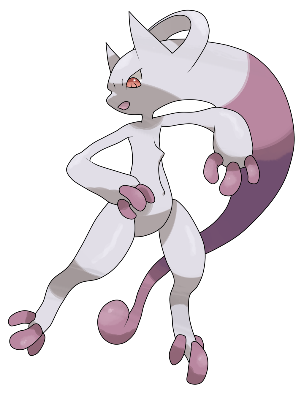 Mega mewtwo y png. By theangryaron deviantart com