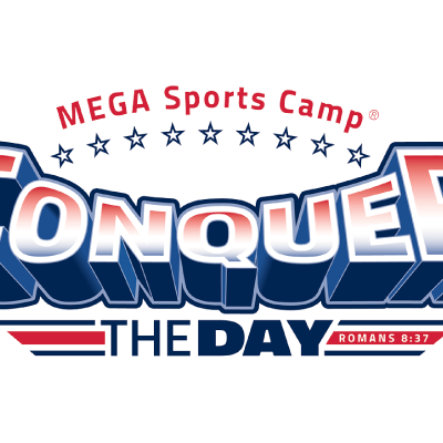 Mega sports camp png. Conquer the day new