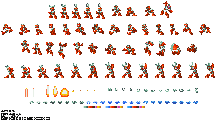 Megaman 8 sprite sheet png. Saturn mega man cut