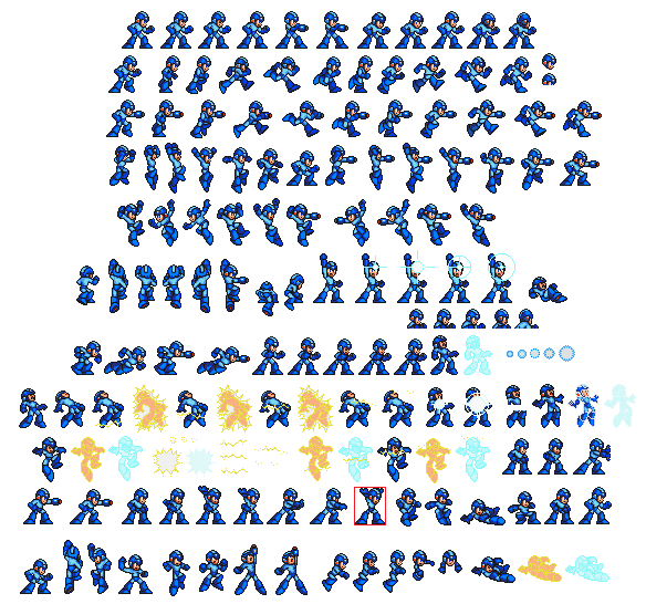 Megaman sprite sheet png. Classic mmx style by