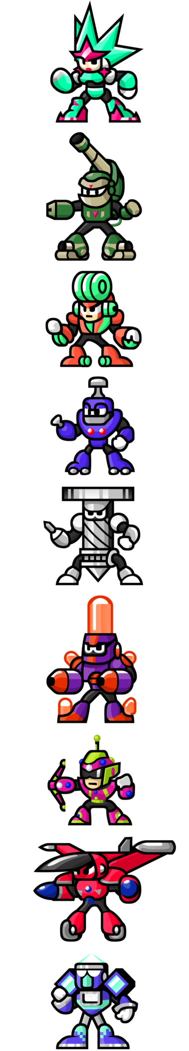 Megaman vector meaga. Sprites unlimited bosses by