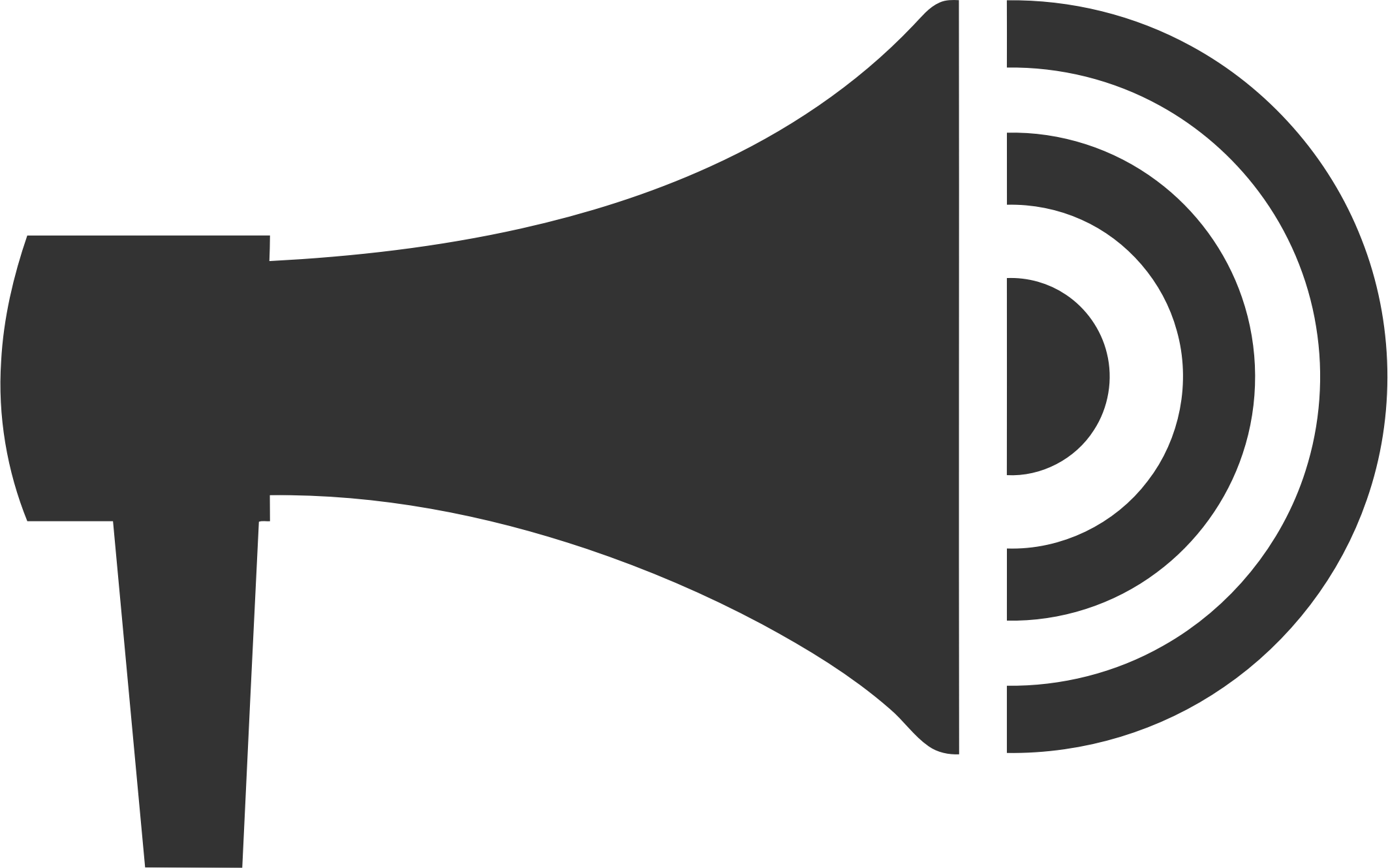 Vector megaphone. Icon icons png free