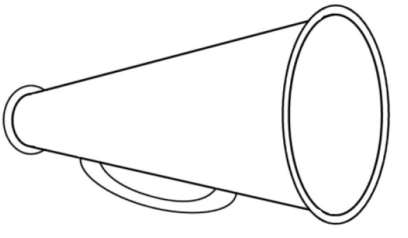Megaphone clipart. Cheerleading free images clipartcow