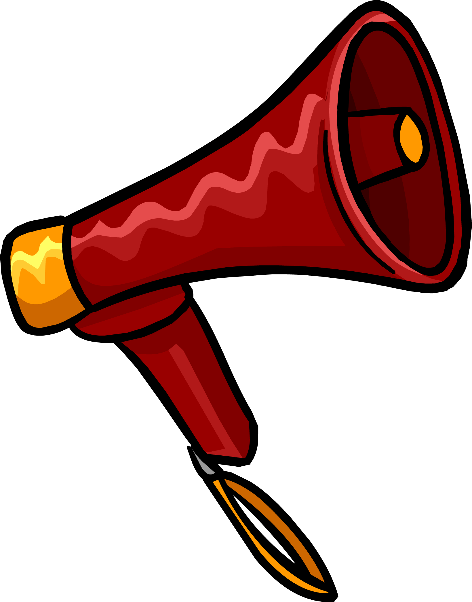 Red megaphone png. Image club penguin wiki