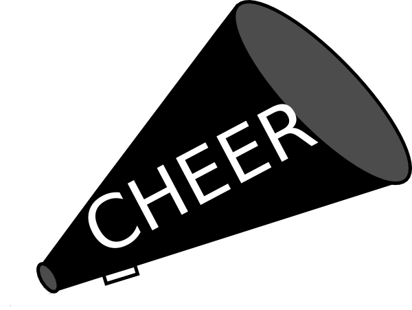 Megaphone clipart youth cheerleading. Free cheer sillohette clip