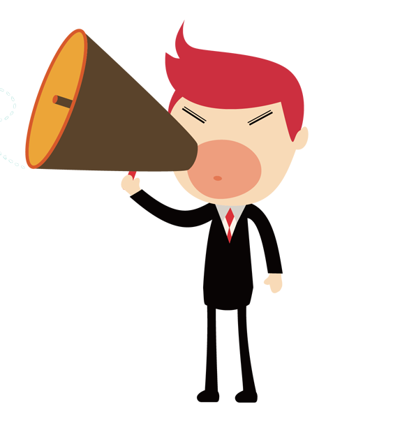 Megaphone man png. Clip art cartoon shouting